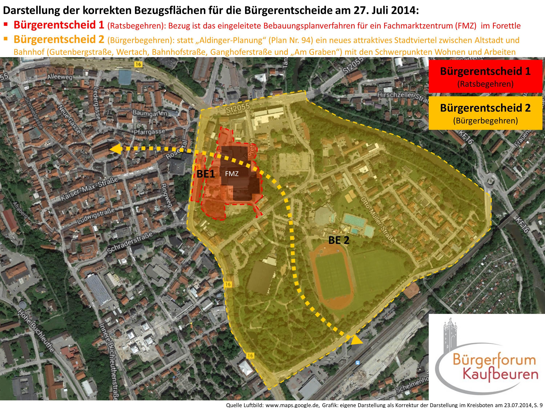 Darstellung der korrekten Bezugsflächen Bürgerentscheide am 27. Juli 2014